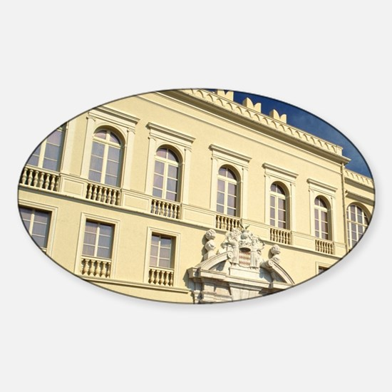 Monaco, Cote d'Azur, Prince's Palac Sticker (Oval)
