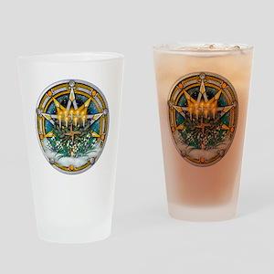 Imbolc Pentacle Drinking Glass