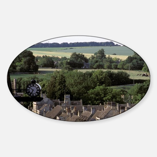Europe, England, The Cotswolds, Bur Sticker (Oval)