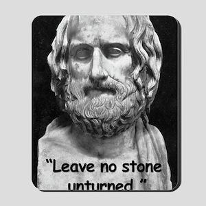 Euripides Stone Quote 2 Mousepad