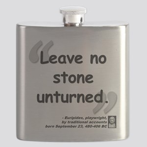 Euripides Stone Quote Flask