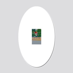 D1203-586hdr 20x12 Oval Wall Decal