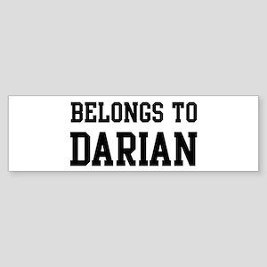 Belongs to Darian Bumper Sticker