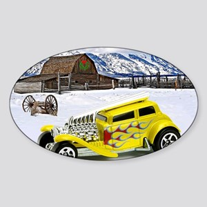 Hot Wheels_Straight Pipes_Yellow_Fa Sticker (Oval)