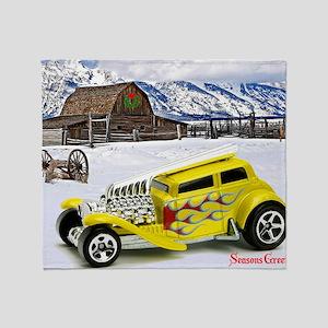 Hot Wheels_Straight Pipes_Yellow_Far Throw Blanket