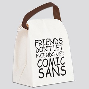 Designers motto Canvas Lunch Bag