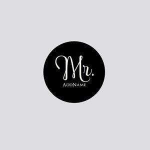 Mr. & Mrs. Wedding Couple His and Hers Mini Button