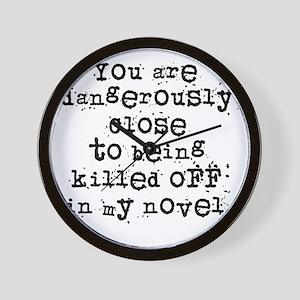 DangerouslyCloseLight Wall Clock