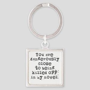 DangerouslyCloseLight Square Keychain