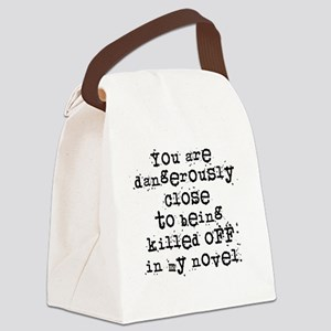 DangerouslyCloseLight Canvas Lunch Bag