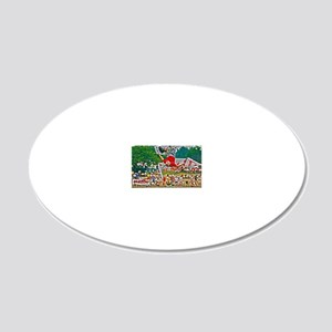 D1203-503hdr 20x12 Oval Wall Decal