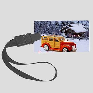 Hot Wheels_40 Woodie_Orange_Log  Large Luggage Tag