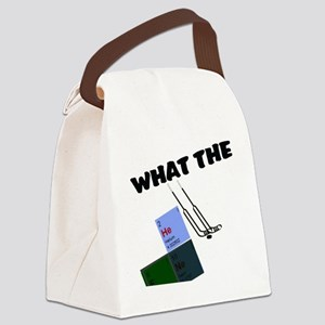 what the He Double Hocky sticks Canvas Lunch Bag