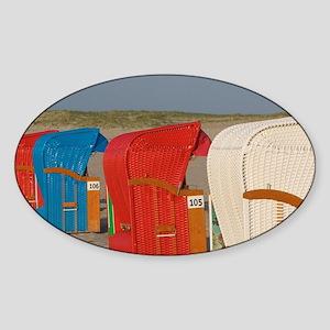 Warnemunde beach Sticker (Oval)