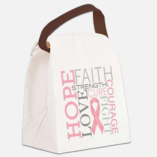 breastcancercollage Canvas Lunch Bag