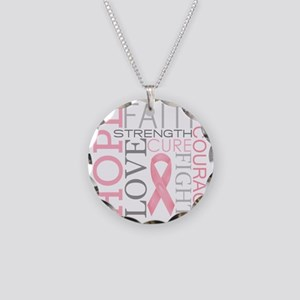 breastcancercollage Necklace Circle Charm
