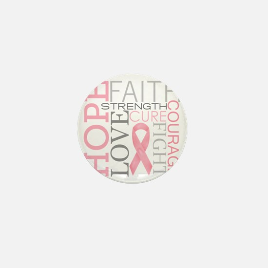 breastcancercollage Mini Button