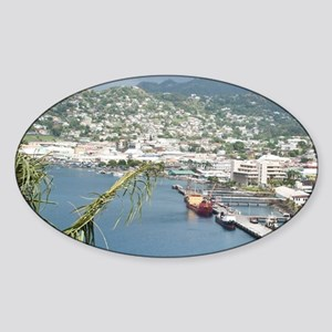 Kingstown Harbor, St. Vincent and t Sticker (Oval)