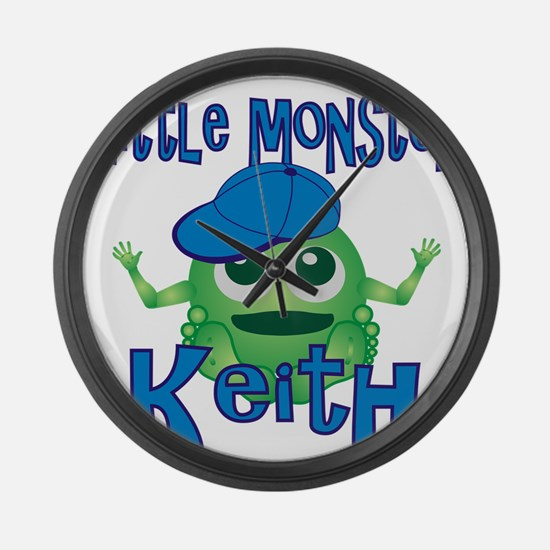 keith-b-monster Large Wall Clock