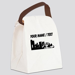 Custom Sydney Australia City Line Canvas Lunch Bag