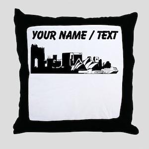 Custom Sydney Australia City Line Throw Pillow