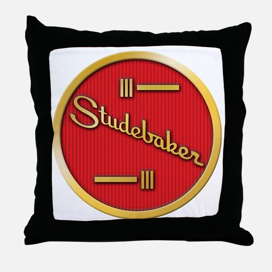 studebaker-horn-emblem Throw Pillow