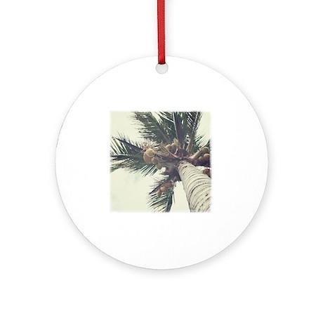 palmcoco-1 Round Ornament