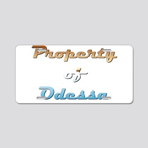 Property Of Odessa Female Aluminum License Plate
