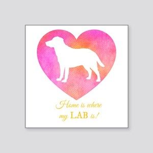 home is where my lab is Sticker