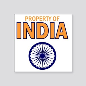 """Property of India Square Sticker 3"""" x 3"""""""
