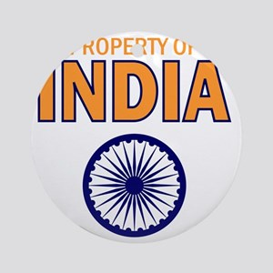 Property of India Round Ornament