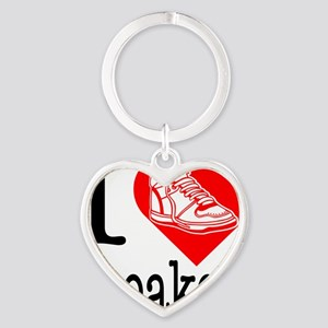 I-Heart-Sneakers Heart Keychain