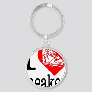 I-Heart-Sneakers Round Keychain