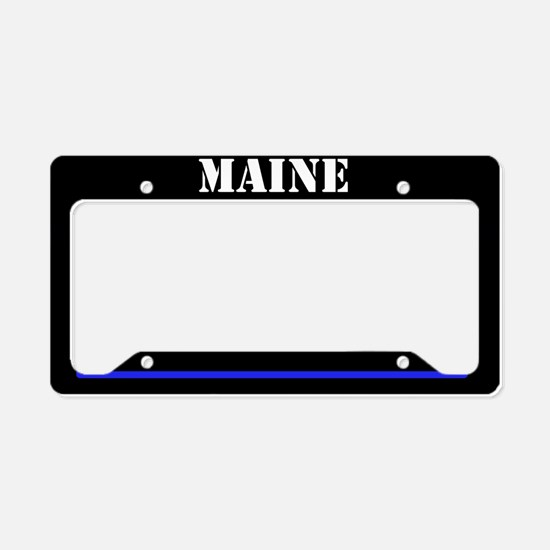 Maine Police License Plate Holder