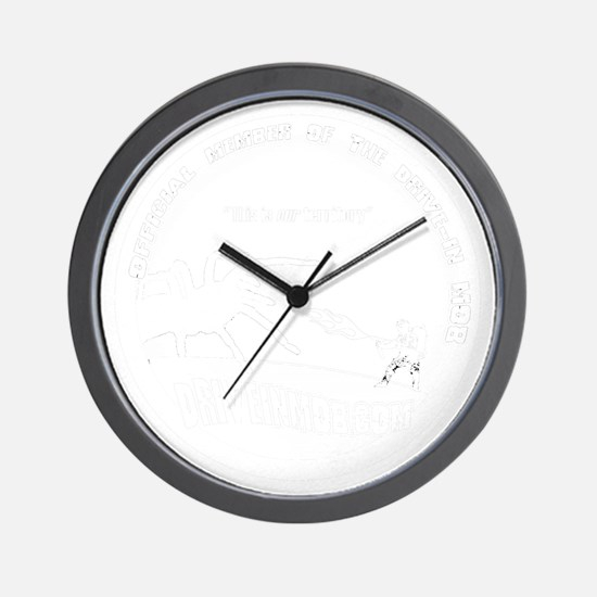 Mob_Tee_black Wall Clock