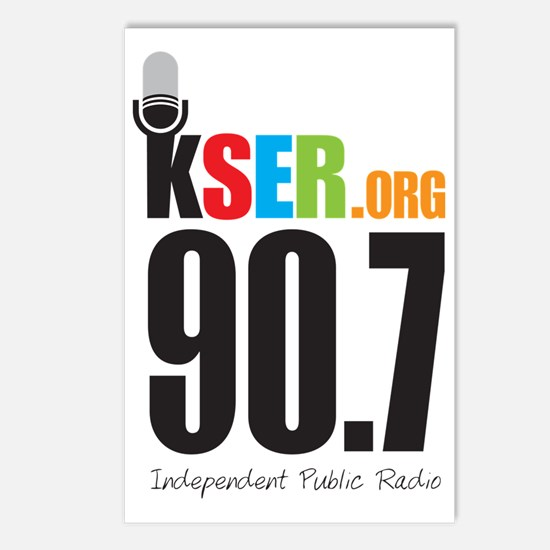 KSER_Logo_Vertical Postcards (Package of 8)