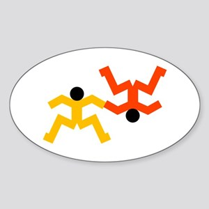 Freefly Skydivers Sticker (Oval)