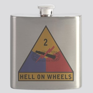 2nd Armored Div Flask