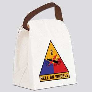 2nd Armored Div Canvas Lunch Bag