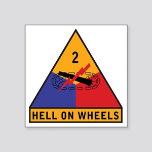 "2nd Armored Div Square Sticker 3"" x 3"""