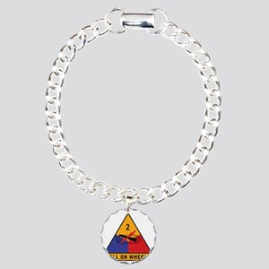2nd Armored Div Charm Bracelet, One Charm