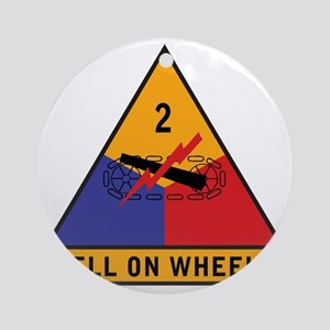 2nd Armored Div Round Ornament