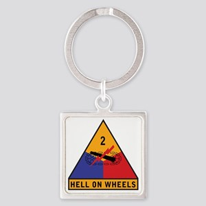 2nd Armored Div Square Keychain