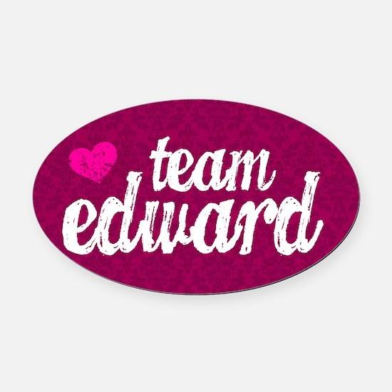 Team Ed Pink TBag Oval Car Magnet