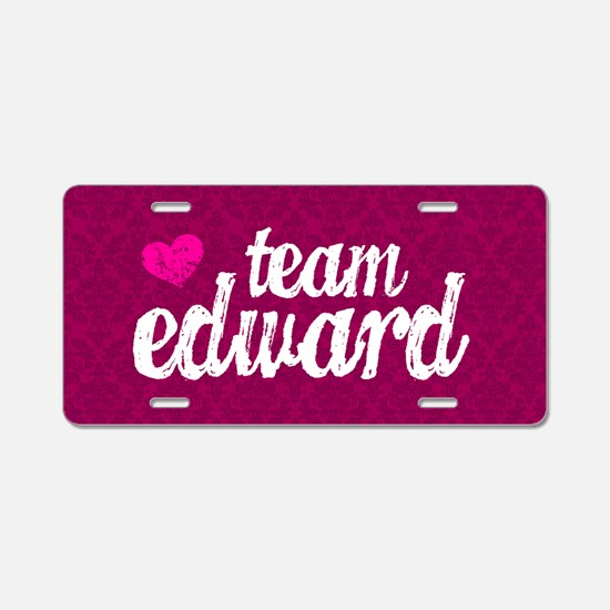 Team Ed Pink TBag Aluminum License Plate