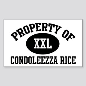 Property of Condoleezza Rice Rectangle Sticker