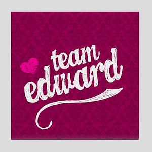 Team Ed Pink iPad Sleeve Tile Coaster