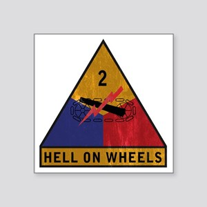 "2nd Armored Div vintage Square Sticker 3"" x 3"""