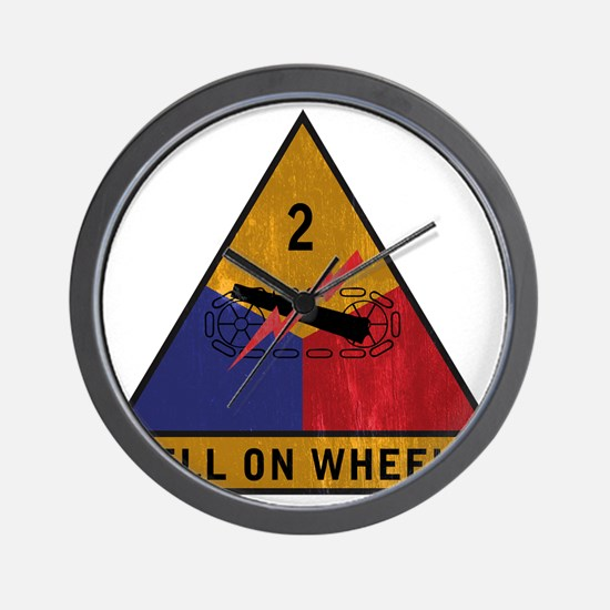 2nd Armored Div vintage Wall Clock