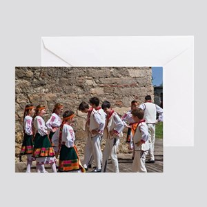 The children's dance group at the Ba Greeting Card